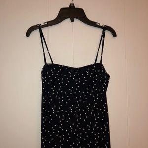 forever 21 cute star print navy cami bodycon dress